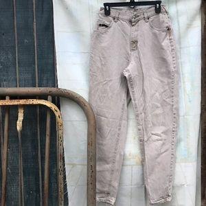 Vintage cream mom jeans